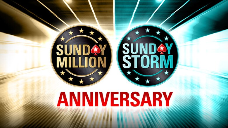 $11 million guaranteed in Sunday Million and Sunday Storm anniversaries