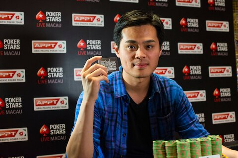 High stakes cash specialist James Chen wins Platinum Pass in APPT Macau $100,000 High Roller