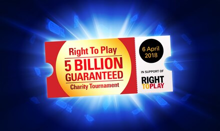 WANTED: 5,000 Play Money players for 5 Billion GTD Right To Play charity event to help disadvantaged children