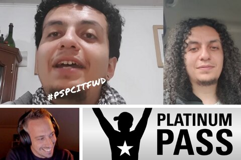 Lex Veldhuis awards Platinum Pass to #PSPCitFWD winner live on Twitch