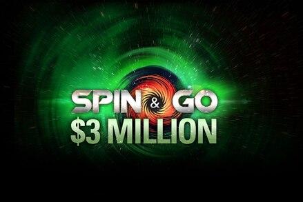 New $3 million Spin & Go's start today on PokerStars
