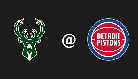 Bucks @ Pistons: Milwaukee set to complete sweep in Detroit